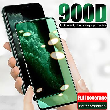 Недорогие Защитные плёнки для экрана iPhone-Защитная пленка для зеленого экрана Apple iphone 11/11 pro / 11 pro max / xs max / xr / xs / x Защитная пленка для передней панели из закаленного стекла высокой четкости (hd) / твердость 9 ч
