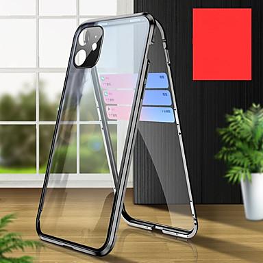 Недорогие Кейсы для iPhone-конфиденциальность металлический магнитный адсорбции закаленное стекло чехол 360 защитная крышка для iphone 11 / 11pro / 11 pro