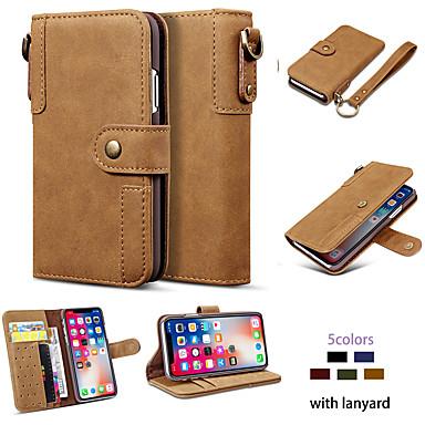 Недорогие Кейсы для iPhone-Кейс для Назначение Apple iPhone 11 / iPhone 11 Pro / iPhone 11 Pro Max Кошелек / Бумажник для карт / Защита от пыли Чехол Однотонный Кожа PU / ТПУ