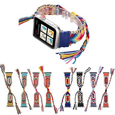 Недорогие Аксессуары для смарт-часов-плетеный ремешок для веревки для яблока ремешок для часов iwatch band 42 / 44mm / 38 / 40mm браслет ремешок для часов ремень ручной работы часы ремешок для часов серии 5 4 3 21