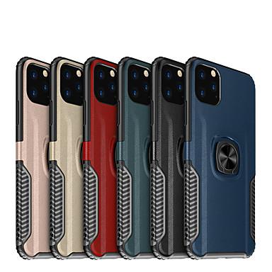 Недорогие Кейсы для iPhone-чехол для apple iphone 7/8/7p / 8p / x / xs / xr / xs max / 11/11 pro / 11 pro max / se 2020 противоударный / задняя крышка для держателя кольца однотонная тпу / пластик