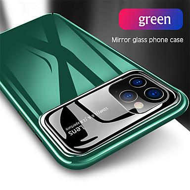 Недорогие Кейсы для iPhone-Роскошный зеркальный стеклянный жесткий ПК чехол для телефона для Apple Iphone 11 Pro Max Se 2020 XS Макс XR X 8 плюс 7 плюс 6 плюс противоударная полная защита задняя крышка