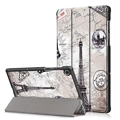 Недорогие Чехлы и кейсы для Lenovo-чехол для lenovo lenovo yoga smart tab yt-x705f / lenovo m10 tb-x605f tb-x505f / lenovo tab e10 шаблон tb-x104f задняя крышка мультфильм натуральная кожа