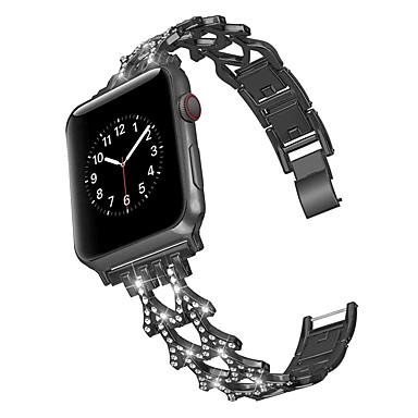 Недорогие Аксессуары для смарт-часов-ремешок из двойного слова из сплава стали ремешок для ремешка Apple 42/44 мм 38/40 мм iWatch серии 5 стальной ремень