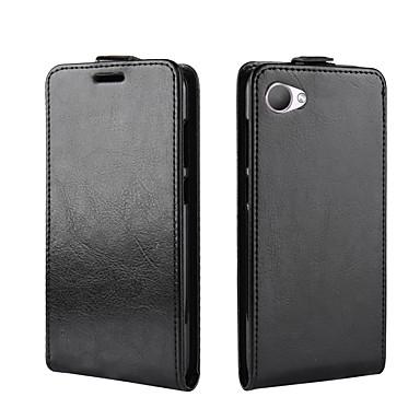 Недорогие Чехлы и кейсы для HTC-Кейс для Назначение HTC HTC U11 plus / HTC U11 Life / HTC U11 Eyes Бумажник для карт / Защита от удара / Флип Чехол Однотонный Кожа PU