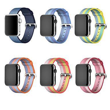 Недорогие Аксессуары для смарт-часов-нейлоновый ремешок для яблочного ремешка для часов 44 мм 40 мм дышащий ремень correa pulseira iwatch band 42 мм 38-миллиметровый браслет apple watch 5 3 4 2 1