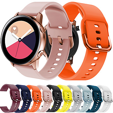 Недорогие Часы для Samsung-Ремешок для часов для Vivoactive 3 / Samsung Galaxy Watch 46 / Samsung Galaxy Watch 42 Samsung Galaxy Спортивный ремешок силиконовый Повязка на запястье