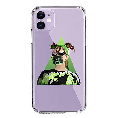 Недорогие Кейсы для iPhone-чехол для apple iphone 11/11 pro / 11 pro max / xs / xr / xs max / 8 plus / 7 plus / 8/7/6 / 6s прозрачный рисунок с защитой от падения задняя крышка тренд мультфильм билли эйлиш софт пк + тпу
