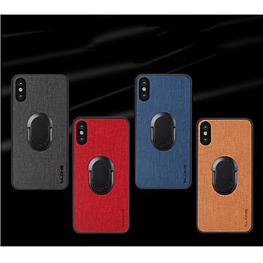Недорогие Кейсы для iPhone-чехол для яблока iphone7 / 8 / 7p / 8p / x / xs / xr / xs max / 11/11 pro / 11 pro max / se 2020 противоударный / задняя крышка для держателя кольца однотонная искусственная кожа / тпу / пластик