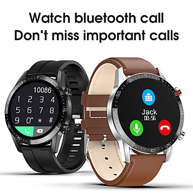 levne Chytré hodinky-L13 Inteligentní hodinky Muži IP68 Vodotěsné EKG PPG Bluetooth volání Krevní tlak Srdeční frekvence Fitness Tracker Sportovní chytré hodinky kompatibilní s iOS / Android telefony