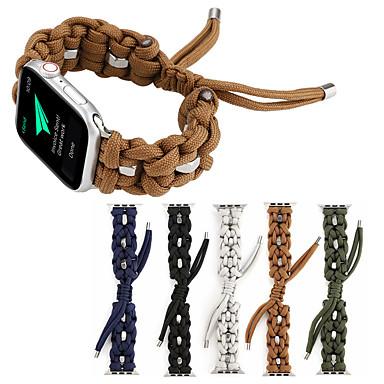 Недорогие Аксессуары для смарт-часов-плетеный ремешок из нейлонового каната для браслета для часов 38 / 40mm 42 / 44mm series 5 4 3 2 1 зонтик веревка frabic петля для iwatch 5