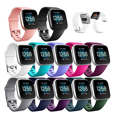 Недорогие Аксессуары для смарт-часов-Ремешок для часов для Fitbit Versa Lite / Fitbit Versa2 фитбит наоборот 2 Спортивный ремешок силиконовый Повязка на запястье