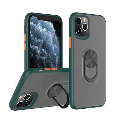 Недорогие Кейсы для iPhone-магнитный держатель для телефона чехол для iphone se 2020/11/11 pro / 11 pro max / xr / xs max / x / xs / 7plus / 8/7 / 8plus кольцо для пальца прозрачная броня