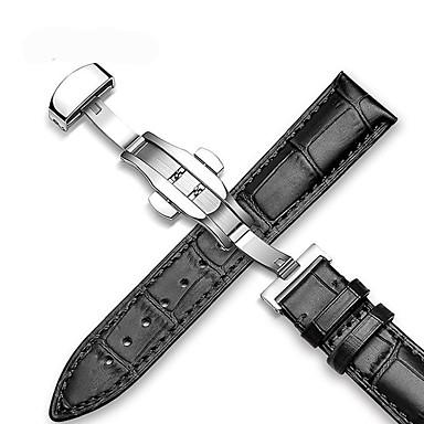 Недорогие Ремешки для Apple Watch-Ремешок для часов для Apple Watch Series 4/3/2/1 Samsung Galaxy / Apple Современная застежка / Бизнес группа Стеганная ПУ кожа Повязка на запястье