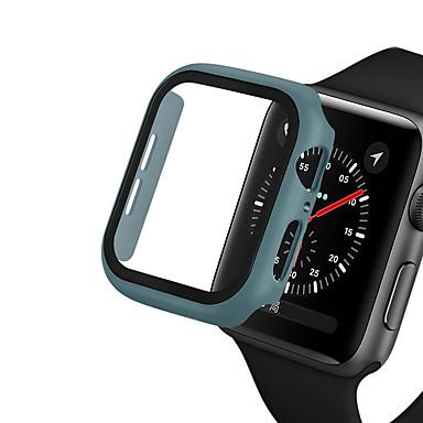저렴한 스마트 워치 케이스-애플 워치 시리즈 5/4/3/2/1 보호 쉘 케이스 강화 유리 필름 iwatch 40mm / 44mm / 42mm / 38mm 시계 케이스