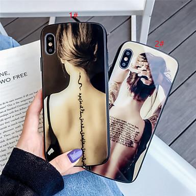 Недорогие Кейсы для iPhone-чехол для телефона из закаленного стекла с рисунком пола для девушки Apple iphone 11 pro max x xr xs max 8 плюс 7 плюс 6 плюс se (2020) кривая задняя крышка