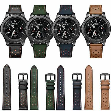 Недорогие Часы для Samsung-Ремешок для часов для Samsung Galaxy Watch 46 / Samsung Galaxy Watch 42 / Huawei Watch GT 2 Samsung Galaxy Классическая застежка / Бизнес группа Натуральная кожа Повязка на запястье
