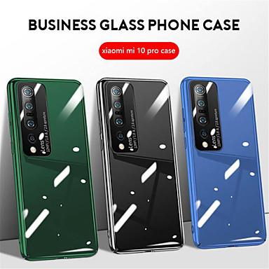 Недорогие Чехлы и кейсы для Xiaomi-для xiaomi mi 10 pro чехол роскошный закаленное стекло чехол для мобильного телефона для xiaomi mi 10 чехол матовое зеркало пк капа