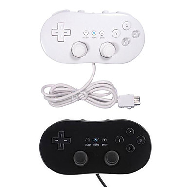 cheap Wii Accessories-Wired Game Controller For Wii U / Wii, Portable For Nintend Wii Wired Classic First Gen Controller USB Game Joystick Gamepad