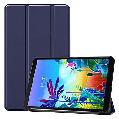 Недорогие Чехлы и кейсы для LG-чехол для LG G Pad 5 10.1 противоударный / с подставкой / флип чехол для всего тела сплошной цвет PU кожаный чехол для LG G Pad 5 10,1