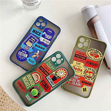 Недорогие Кейсы для iPhone-чехол для apple iphone 11 / iphone 11 pro / iphone 11 pro max ударопрочный / пыленепроницаемый / выкройка задняя крышка играет с яблочным логотипом / однотонный / мультфильм силикагель iphone 6/7/8 /