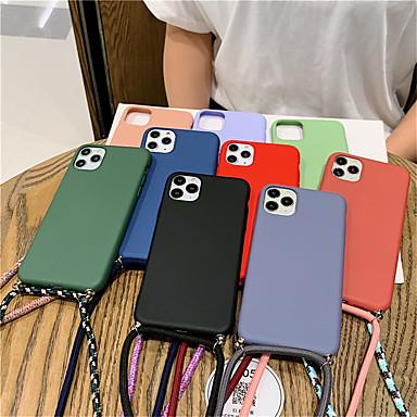 Недорогие Кейсы для iPhone-модный цветной ремешок с конфетами для телефона iphone se2020 / 11 / 11pro / 11 pro max / x / xs / xr / xs max / 8plus / 8 / 7plus / 7 / 6plus / 6 / 6s plus / 6s матовый мягкий силиконовый чехол для