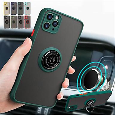 Недорогие Кейсы для iPhone-защитный чехол для камеры для iphone se 2020/11 / 11pro / 11 pro max / x / xr / xs max / 8/8 plus / 7 / 7plus / 6s plus / 6s магнитный держатель кронштейна для кольца роскошный ударопрочный полный