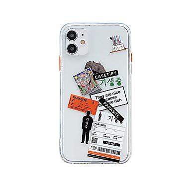 Недорогие Кейсы для iPhone-прозрачный / мультфильм / слово чехол для Apple iPhone 11 Pro Max X X X Макс 8 плюс 7 плюс SE (2020) задняя крышка