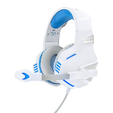 Недорогие Наушники для геймеров-kotion каждой игровой гарнитуры g7500 проводная стереосистема с двумя драйверами и встроенным регулятором громкости микрофона для игр