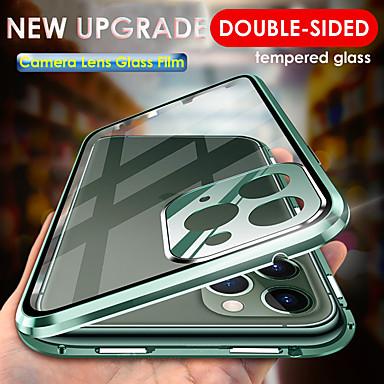 Недорогие Кейсы для iPhone-магнитный адсорбции закаленное стекло металлический корпус для iphone 11 11 pro 11 pro max объектив камеры полная защита