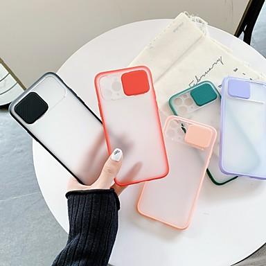 Недорогие Кейсы для iPhone-Кейс для Назначение Apple iPhone 11 / iPhone 11 Pro / iPhone 11 Pro Max Защита от удара Кейс на заднюю панель Однотонный пластик