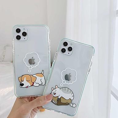 Недорогие Кейсы для iPhone-противоударный тпу кошка собака чехол для телефона для apple iphone 11 pro max x xr xs max 8 плюс 7 плюс 6 плюс se задняя крышка