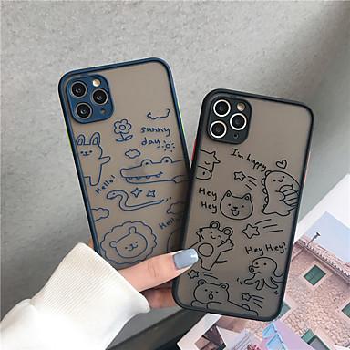 Недорогие Кейсы для iPhone-чехол для яблока iphone11 / 11pro / 11pro max / x / xs / xr / xs max ударопрочный / прозрачная задняя крышка цветок тпу