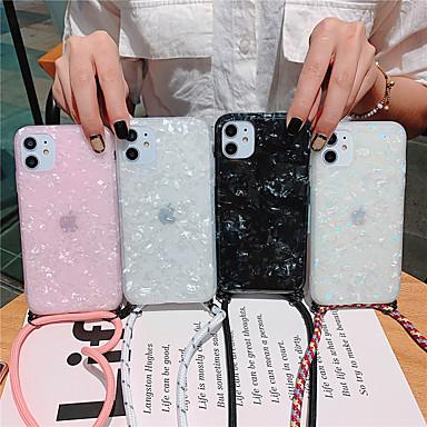 Недорогие Кейсы для iPhone-мраморный чехол для телефона для iphone se 2020/11 / 11pro / 11 pro max / x / xs / xs max / xr / 8 / 8plus / 7plus / 7 / 6s / 6s plus / 6plus / 6 с рисунком в виде раковины с силиконовым ремешком из