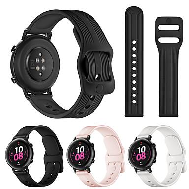 Недорогие Аксессуары для смарт-часов-для часов Huawei GT2 42 мм / часы Huawei 2 / часы Huawei 2 Pro умные часы 20 мм ремешок силиконовые ремешки для часов