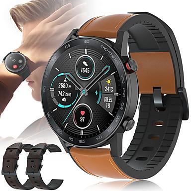 Недорогие Ремешки для часов Huawei-Кожаный силиконовый ремешок для часов ремешок на запястье для часов Huawei GT 2 46 мм / честь магии / волшебные часы 2 46 мм / GT Active / часы 2 Pro / классический сменный браслет браслет