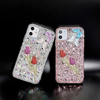 Недорогие Кейсы для iPhone-горный хрусталь цветок тпу чехол для apple, iphone 11 pro max x xr xs макс. 8 плюс 7 плюс 6 плюс se задняя крышка