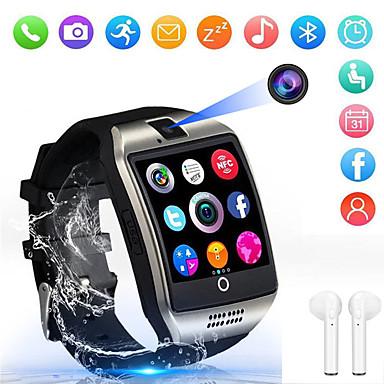 levne Chytré hodinky-Indear Q18 Muži ženy Inteligentní hodinky Android iOS Bluetooth 2G Voděodolné Dotykový displej Sportovní Spálené kalorie Hands free hovory Časovač Stopky Krokoměr Záznamník hovorů Sledování aktivity