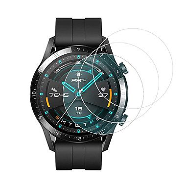 Недорогие Защитные пленки для смарт-часов-3 шт. Для huawei watch gt2 46 мм 42 мм закаленное стекло протектор экрана твердость 9h