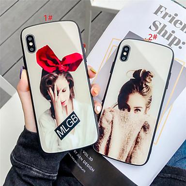 Недорогие Кейсы для iPhone-Кейс для Назначение Apple iPhone 11 / iPhone 11 Pro / iPhone 11 Pro Max С узором Кейс на заднюю панель Соблазнительная девушка Закаленное стекло