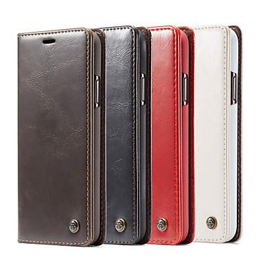 Недорогие Кейсы для iPhone-Caseme Luxury Business кожаный магнитный флип чехол для iPhone 11/11 Pro / 11 Pro Max / SE2020 / XS Макс / XR / XS / X / 8 Plus / 7 Plus / 6 Plus / 8/7/6 с крышкой подставки слот для карт памяти