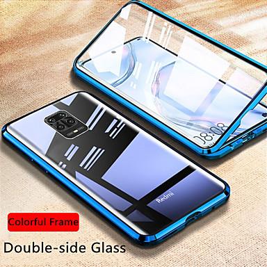 Недорогие Чехлы и кейсы для Xiaomi-магнитный стеклянный корпус для xiaomi redmi note 9s / 9pro / 9pro max / 8t / 8 / 8pro / 7s / 8a / k30pro / k 20 чехол из двухстороннего закаленного стекла металлическая магнитная адсорбционная крышка