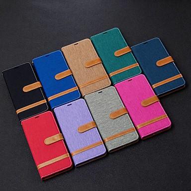 Недорогие Чехлы и кейсы для Xiaomi-чехол для xiaomi redmi note 8t / redmi note 9 pro max / cc9 pro кошелек / визитница / с подставкой для чехлов для тела плитка из искусственной кожи для xiaomi note 10 pro / redmi 8 / 8a / k30 / note