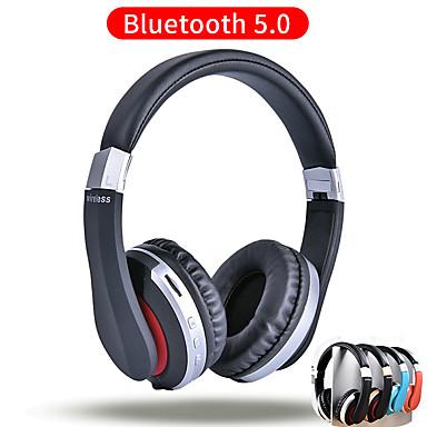 Недорогие Наушники для геймеров-MH7 беспроводные наушники Bluetooth складная стереогарнитура с поддержкой микрофона TF карта для мобильного телефона Ipad