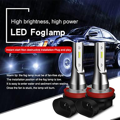 cheap Car Lights-2pcs H8 / H11 / 9005 / 9006 Super Bright Car Light Bulbs 20 W Integrated LED 2000 lm LED Fog Lights Fanless headlight