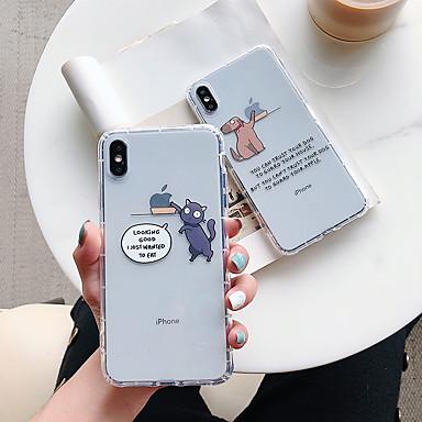 Недорогие Кейсы для iPhone-противоударный тпу кошка собака чехол для apple, iphone 11 pro max x xr xs макс. 8 плюс 7 плюс 6 плюс se задняя крышка