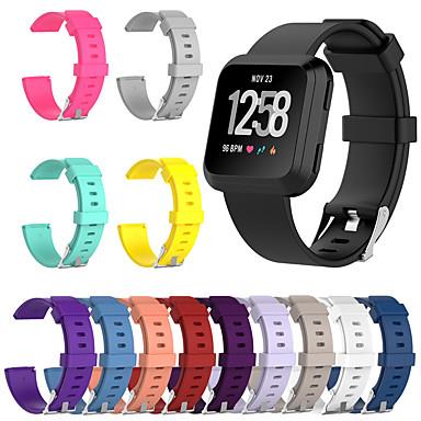 Недорогие Аксессуары для смарт-часов-новый сменный ремешок для часов fitbit наоборот fitbit versa lite умные часы мягкий силиконовый классический браслет