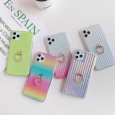 Недорогие Кейсы для iPhone-iphone11pro силиконовый чехол с градиентом цвета силиконовый чехол против падения xs max с подставкой для кольца 7 / 8plus / se2020 защитный чехол