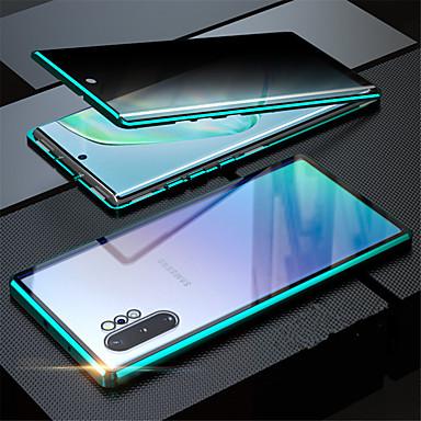 Недорогие Чехол Samsung-магнитное закаленное стекло уединенный металлический корпус coque 360 магнитная крышка для samsung galaxy s20ultra / s20 plus / s20 / a70 / a50 / a50s / a30s / note 8 / note 9 / note10 note 10plus /