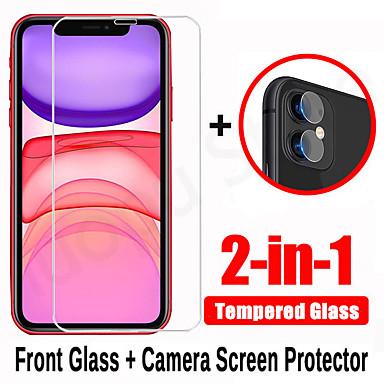 Недорогие Защитные плёнки для экрана iPhone-2 в 1 закаленное стекло для iphone 7 8 x xr xs макс. 11 pro max se 2020 защитная пленка для объектива камеры для iphone xr xs 7 8 плюс комплект